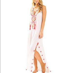 Lilly Pulitzer Nolia Maxi Dress Resort White Large